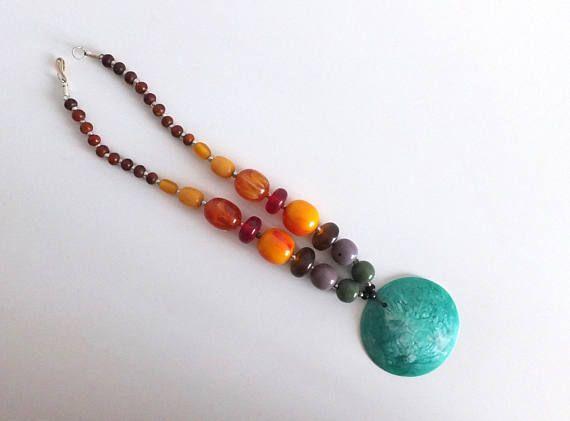 Collier femme/collier ethnique/collier en perles de