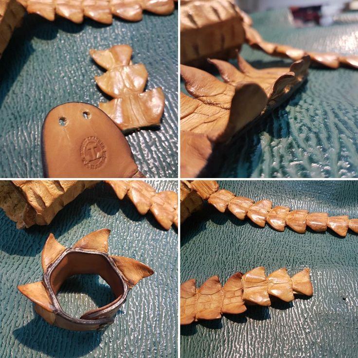 Que llega el verano  Preparando  Pulseras de cola de  Cocodrilo 🐊🐊 Interior de piel vaca 🐄🐄 Hipoalergénicas  Con certificado de protección de especies C.I.T.E.S #leathercraft #leatherbag #leatherwork #leatherhandmade #leathershop #handmade #wallet #carteras #hechoamano #artesania #moda #madrid #pythonleather #moda #vintage #madespain #exoticleather #exoticskin #python  #cuero #cosidoamano  #cocodrilo #aligator #vikings #brazalet #brazalete #leather #pulseracuero #pulseras