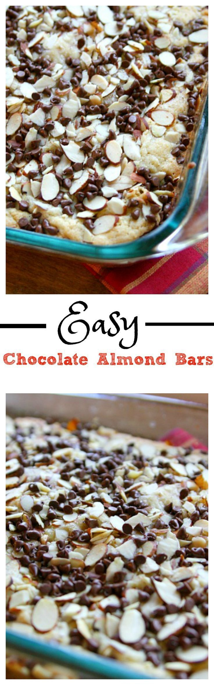 Easy Chocolate Almond Bars - The Mama Report | The Mama Report