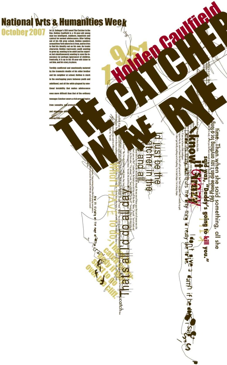 17 best images about j d salinger and the catcher in the rye on catcher in the rye poster