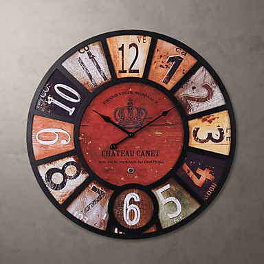 """H23"""" Country Style Retro Metal Wall Clock – USD $ 49.99"""