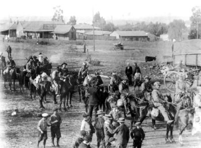 Since the First Boer War, relations with the British had been uneasy at best, and as the century came to a close, the Boer Republics felt much pressure to give concessions to the Cape Colony to their south, and the British citizens who resided on Boer lands. As tensions came to a head, the Boers mobilized their citizens for war. Lacking a standing army, local militias would form groups, known as commandos, to carry out the fighting. Here, the Hollander commando leaves Pretoria on October…