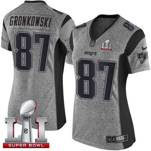 ... Limited Salute to NikePatriots 87 Rob Gronkowski Gray Super Bowl LI 51  Womens Stitched NFL Nike Patriots ... 9ad3019b1
