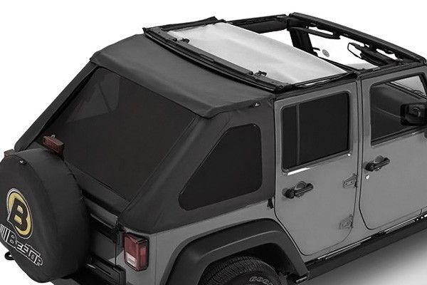 2007-2016 Jeep Wrangler Unlimited Bestop® Trektop NX in Black Diamond