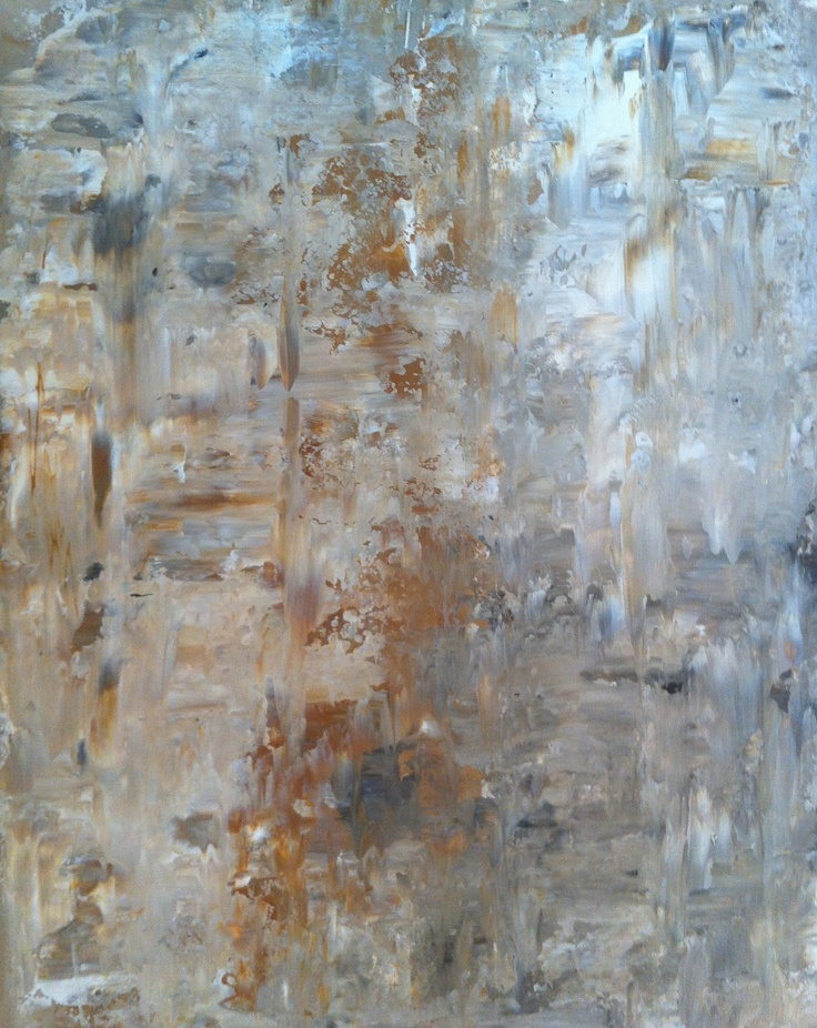 Acrylic Abstract Art Painting Brown Cream Beige by T30Gallery