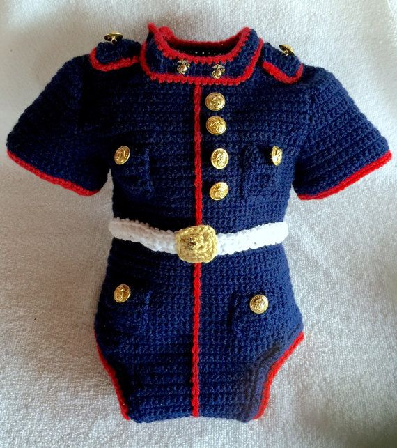 Marine Corps baby body suit USMC dress blues by babypropsbyconnie