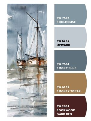 Paint colors from Chip It! by Sherwin-Williams *   Love the blues, choosing what blue where, and how won't be easy. Could be a designer in my future dreams! *