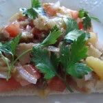 Итальянская #брускетта на русский манер, а иначе бутерброд с печеными овощами