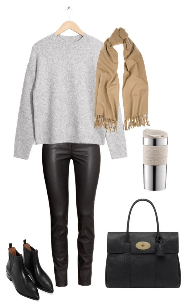 Untitled #159 by juliegodsknielsen on Polyvore featuring H&M, Mulberry, Acne Studios and Bodum