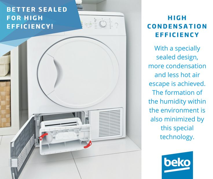 Beko dryers are better sealed for high efficiency! With a specially sealed design, more condensation and less hot air escape is achieved. The formation of the humidity within the environment is also minimized by this special technology. http://bit.ly/1NdLcF3
