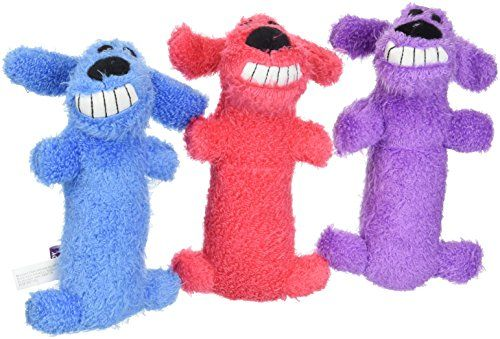 3 Pack Multipet Mini Plush Loofa Dog Toy 6 Inch Dog Toys Plush