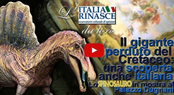 """L'ultimo servizio de """"L'Italia Rinasce da loro"""" a cura di Davide Lorenzano.  LINK VIDEO: https://youtu.be/oeXUWp9w0ak  La recente ed importante scoperta per la comunità paleontologica mondiale è anche italiana: lo """"#Spinosaurus"""" è il più grande #dinosauro predatore mai esistito anche più del famigerato #tirannosauro.  #Milano è la seconda tappa di un tour mondiale dove poterlo osservare ancora fino al prossimo 10 gennaio. Dal #NationalGeographicMuseum di #Washington D.C. al prestigioso…"""