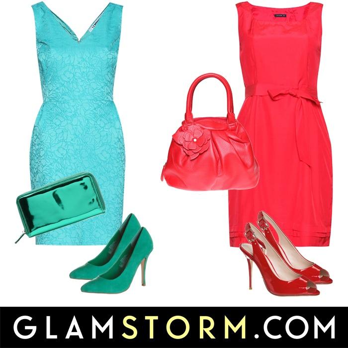 Turkus czy czerwień? Obie sukienki dziś w nowościach! :) /Turquoise or red? Both dresses today in the new arrivals! :)    czerwona Tatuum - 219.99 zł  turkusowa Click Fashion - 269.90 zł