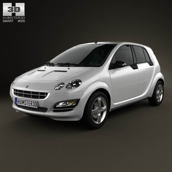 Smart Forfour 2006 3d model from humster3d.com. Price: $75
