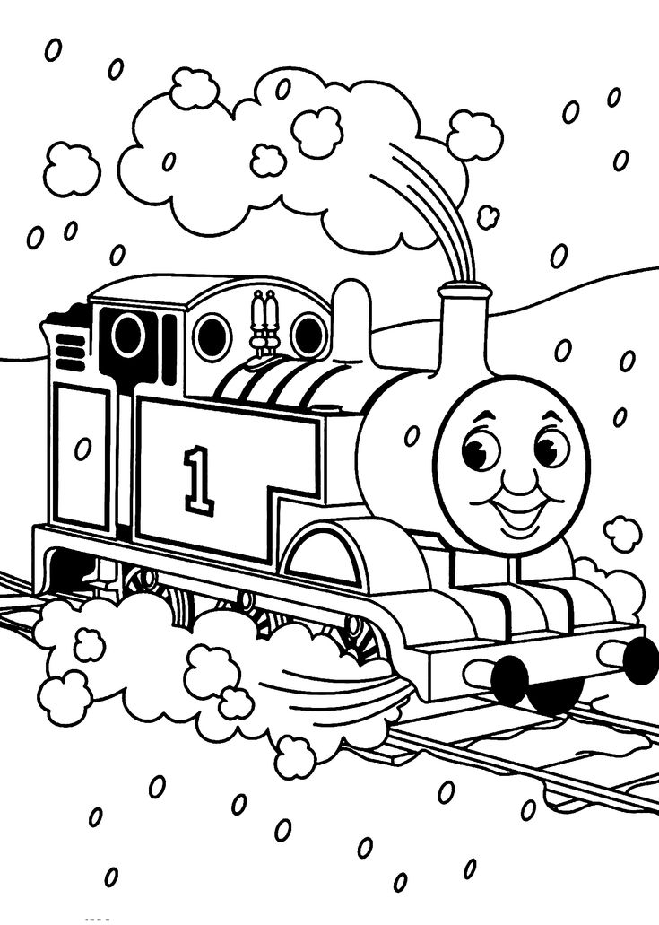Thomas and friends coloring pages landscape for kids, printable free
