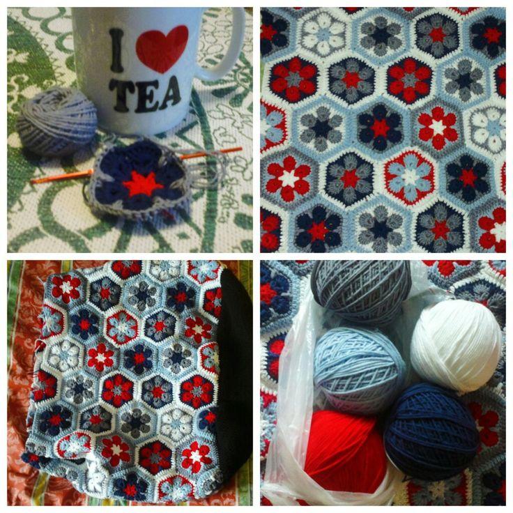 WIP of my crochet crossbody handbag