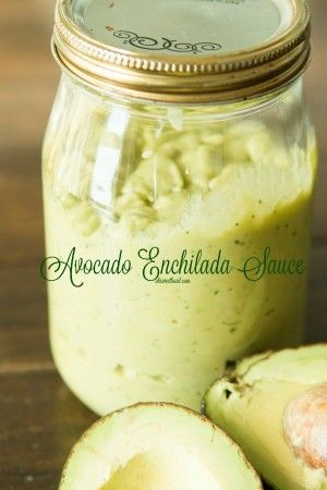 Quick and Easy (from scratch) Avocado Enchilada Sauce!! Perfect for smothering or dipping!!