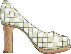 Dibujos zapatos tacon para imprimir