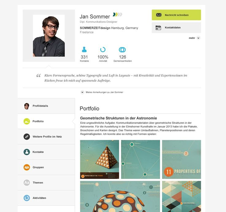 Best  Xing  Linkedin Profil Portfolios  Images On
