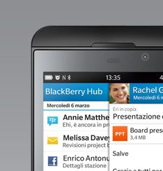 #BlackBerryZ10 Un modo completamente nuovo di usare lo smartphone.