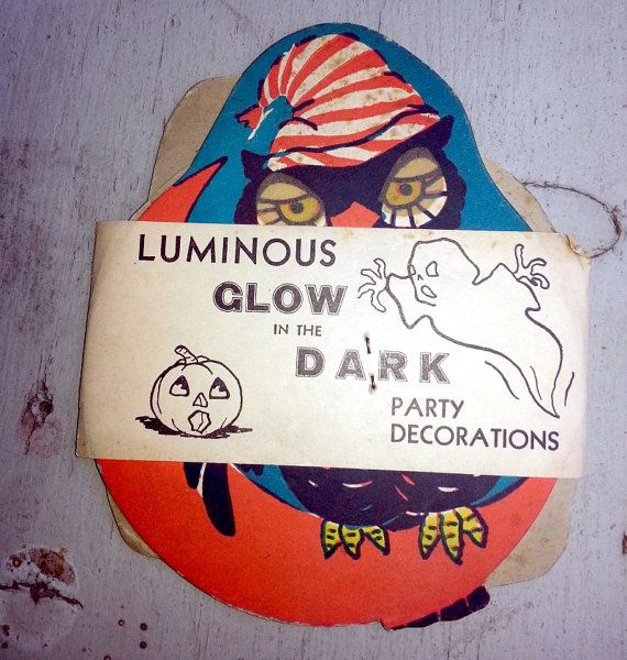 3Pack 1948 GlowintheDark Halloween Party Decoration by therpsajik, $13.70