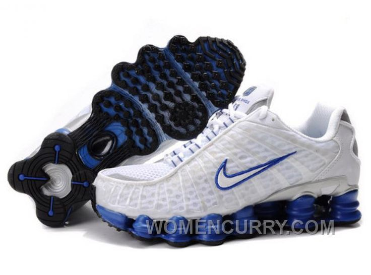 Discover the Men\u0027s Nike Shox TL Shoes White/Blue/Silver Authentic group at  Footseek. Shop Men\u0027s Nike Shox TL Shoes White/Blue/Silver Authentic black,  grey, ...