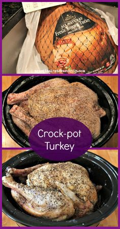 Crock-pot Turkey Collage