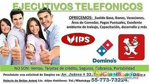 Ejecutivos Telefónicos   medio tiempo  - iclasificados.com.mx