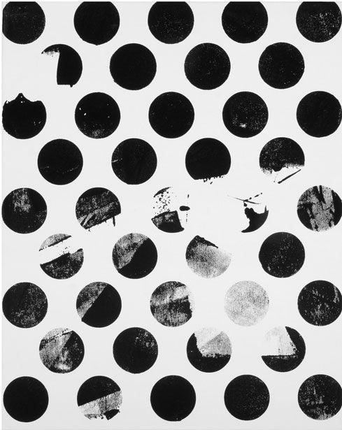 Graphic Dots - black & white pattern; contemporary print design