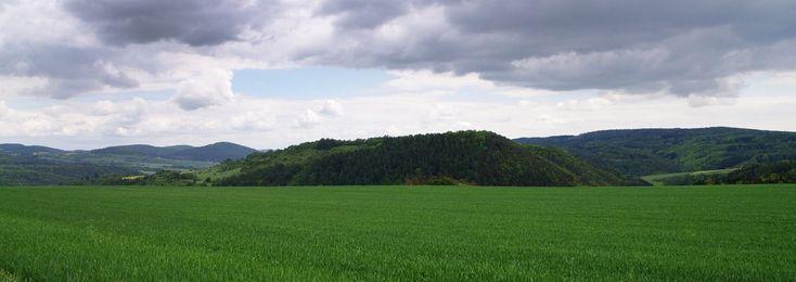 Panoramatický pohled na oppidum.