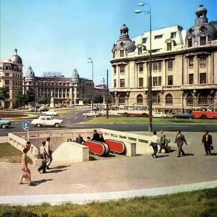 Bucuresti - Rondul si Piata Universitatii, 1973