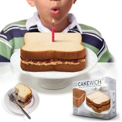 This is totally my dream cake...PN&J!! It's a sandwich, it's a cake... It's a cakewich!! The Cake Sandwich By Craft Gossip -- see more at LuxeFinds.com