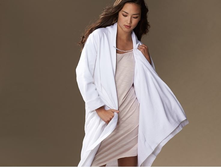 Organic Women's Cotton & Linen Terry Robe | Coyuchi