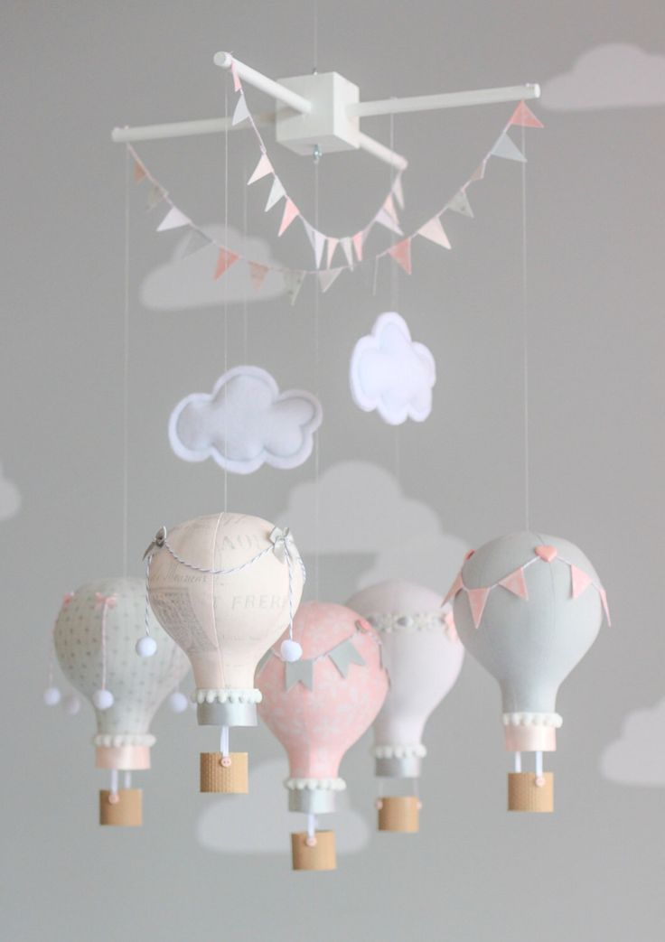 Baby Mobile, Pink and Grey, Nursery Mobile, Pink and Grey Nursery Decor, Custom Baby Mobile, i18 by sunshineandvodka on Etsy https://www.etsy.com/listing/197382732/baby-mobile-pink-and-grey-nursery-mobile