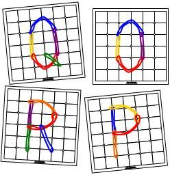 Geoboard Letter Cards