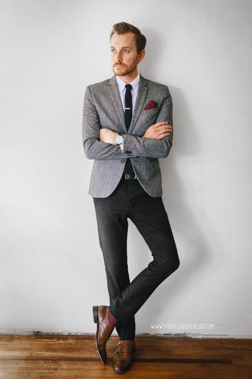 「gray blazer black trousers men」の画像検索結果 | Work looks ...