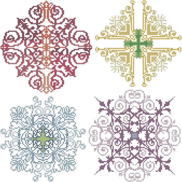 A personal favorite from my Etsy shop https://www.etsy.com/listing/217769065/modern-cross-stitch-medallions-pattern