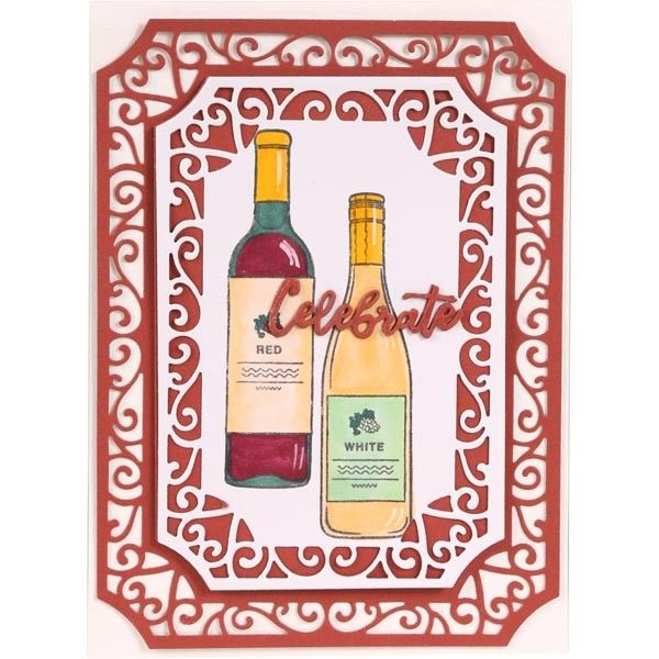Apple Blossom Stamp Set Champagne /& Wine Set of 13Drinks Trolley Collection