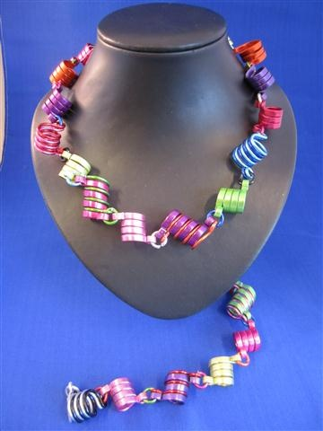 Funny colourfull handmade necklace (aluminium wire)