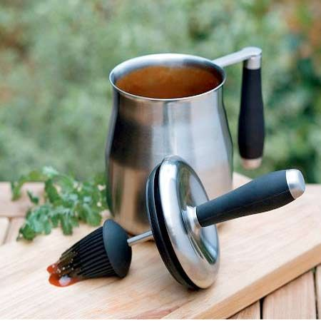 Basting Pot With Built-In Brush | Grill Accessories | Photos | Outdoor Kitchens | Kitchens | This Old House