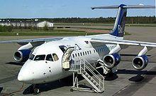 An Avro 146-RJ85 at Turku Airport, Finland, 2005
