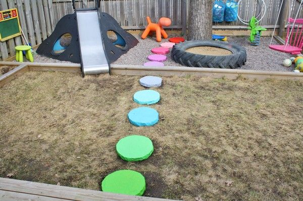 Great ideas for kids design, but especially love the outdoor play area!!
