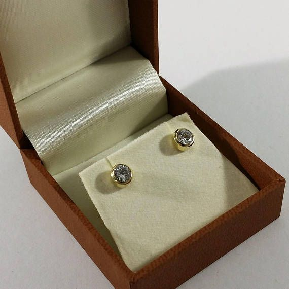 Ohrringe Ohrstecker Gold 585 Kristall edel OR140
