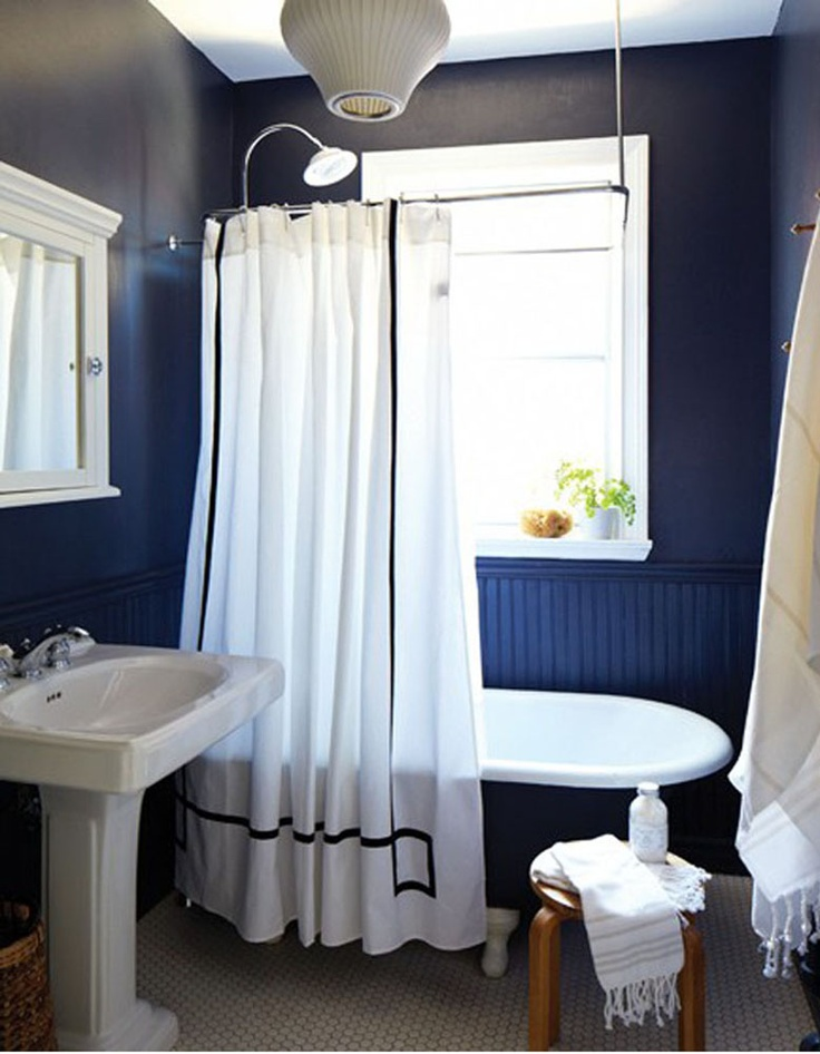 Simple Blue Colored Toilet Bathroom Design Ideas