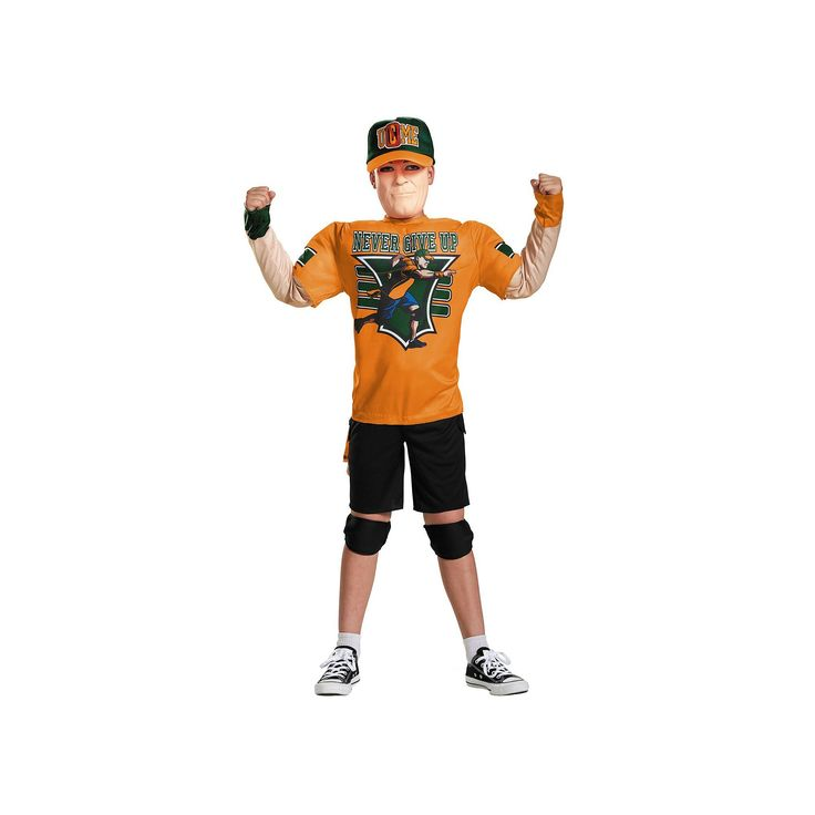 Kids Classic WWE John Cena Muscle Costume, Boy's, Size: Medium, Multicolor