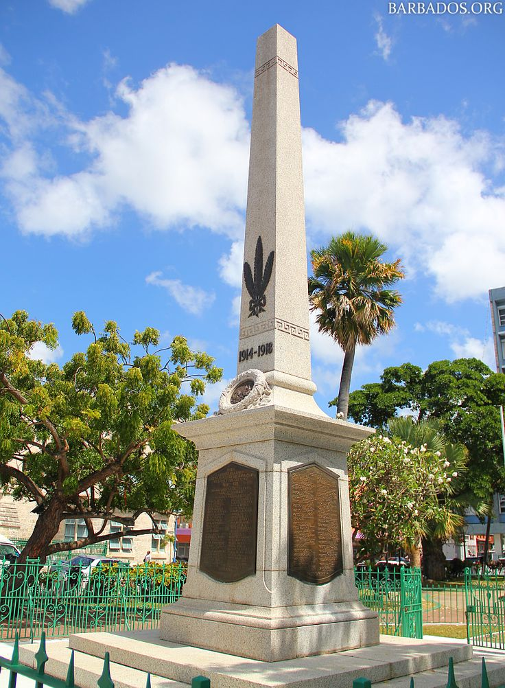 Barbados cenotaph commemorating those who died during