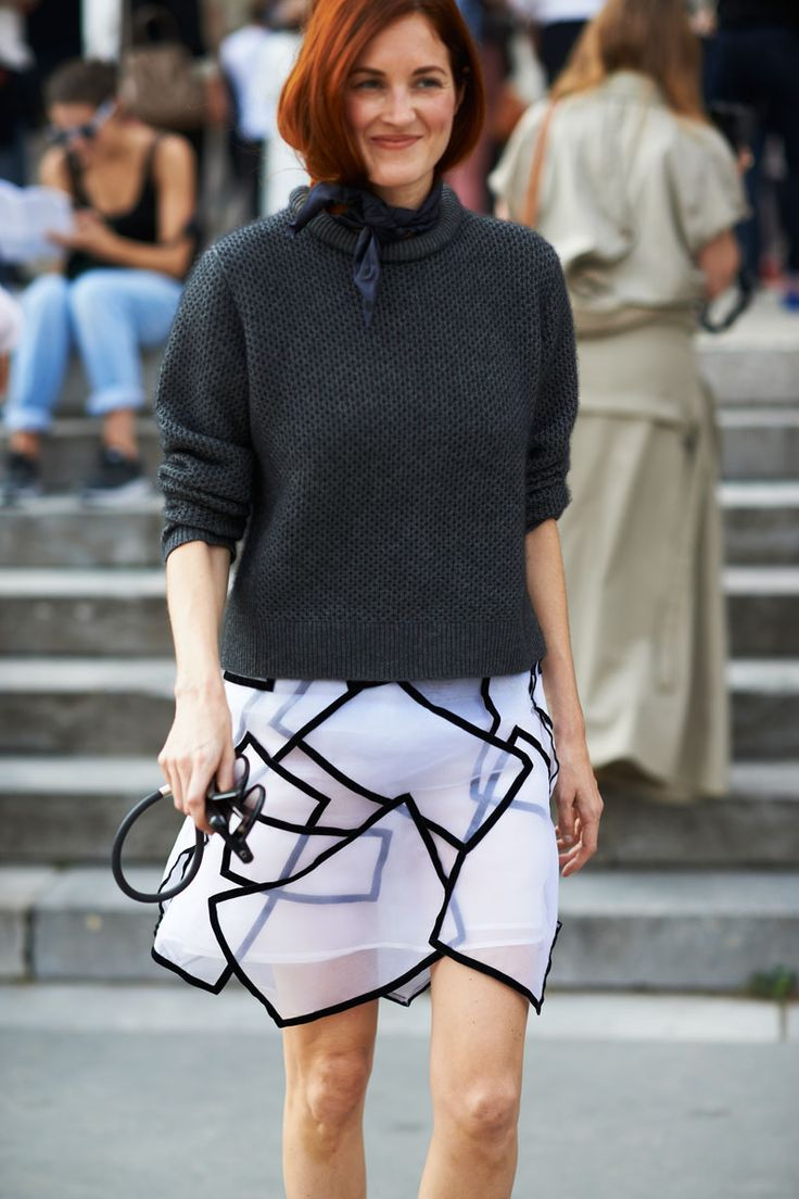 Street Style Paris Fashion Week - Paris Spring 2014 Street Style Photos - ELLE