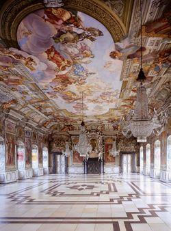 Kaisersaal der Neuen Residenz in Bamberg.Germany
