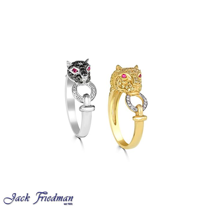 Cheetah and tiger with  black and white diamonds jackfriedman.co.za