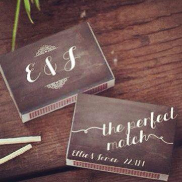 Printable Chalk design Wedding Match labels - Wedding Favor - DIY Wedding - Custom design - Easy print at home - Perfect Match - Cigar Bar on Etsy, $8.61